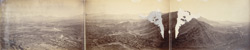 Panorama of Kabul from Asmai hill - showing Chardeh Valley on right to Sherpur [Cantonment] on left.